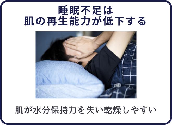 睡眠不足はニキビができる